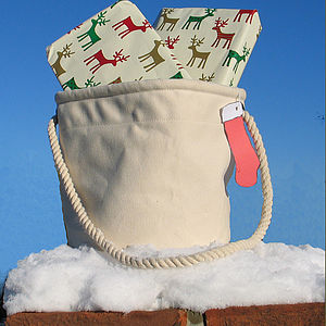 'Christmas stocking' Bucket Bag