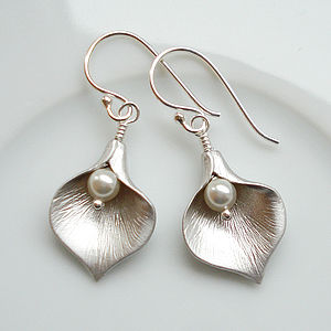 Calla Lily Earrings - jewellery