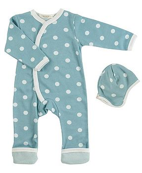 New Baby Organic Spotty Romper & Hat