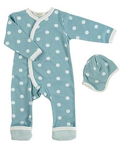 New Baby Organic Spotty Romper & Hat - maternity essentials