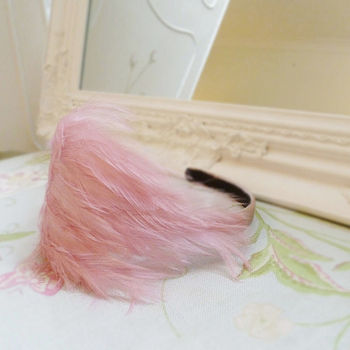 Rose Pink Feather Hair Band