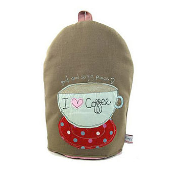'I Love Coffee' Simple Large Cafetiere Cosy