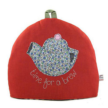 'Time for a brew' Simple Medium Tea Cosy