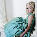 Amy Jewel Coloured Silk Flower Girl Or Party Dress