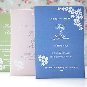 Personalised Seed Packet Wedding Favour
