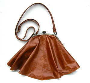 Waxed Leather Skirt Bag
