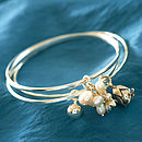Triple Cluster Silver Bangles