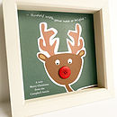 'Rudolf With Your Nose So Bright' Gift Frame