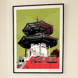 'Peace Pagoda London' Limited Edition Print - affordable art