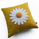 big daisy cushion yellow