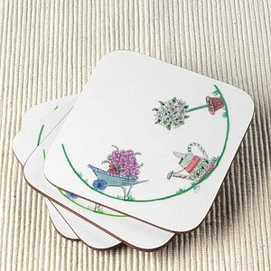 Set Of Summer Garden Coasters - gifts for grandmothers