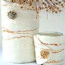 Textural Wrapped Candle With Vintage Detail