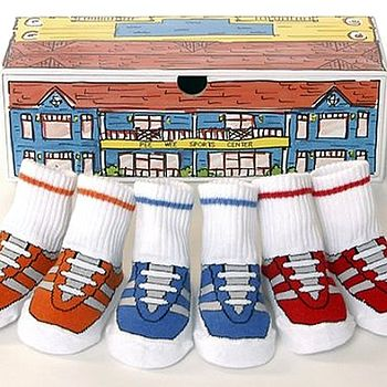Pee Wee Sports Baby Socks In Keepsake Box
