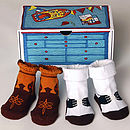 Grab Your Saddle Baby Socks & Keepsake Box