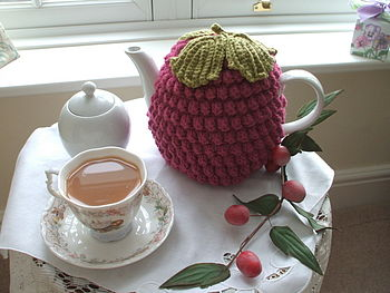Handmade Ruby Rasberry Tea Cosy