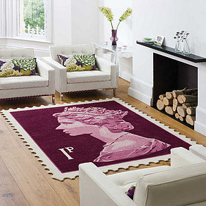Stamp Rug - living room