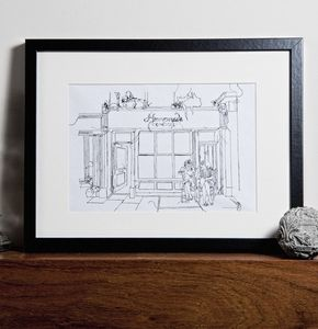Bespoke Hand Stitched Illustration - contemporary art