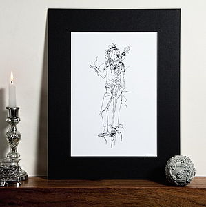 Hand Drawn Mounted Illustration - contemporary art
