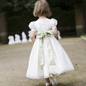 Silk Alice Flower Girl Dress