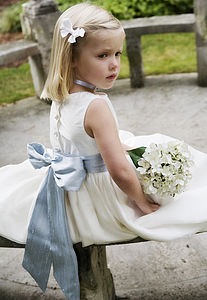 Silk Luxe Sash For Flower Girl Dresses - for children