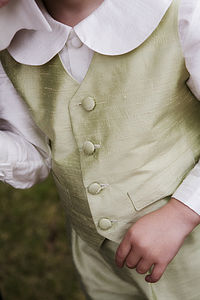 Regency Silk Boy's Waistcoat - wedding and party outfits