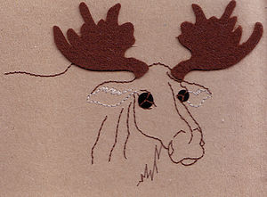 Recycled Moose Card - cards & wrap