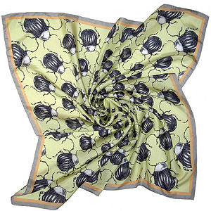 'Beetle Bum' Square OR Long Silk Scarf