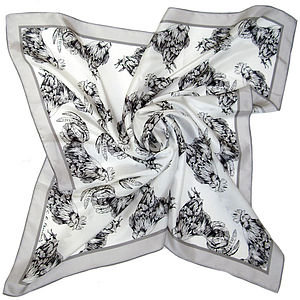 Rooster Large Silk Scarf