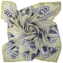 Winter Wings Square Silk Scarf