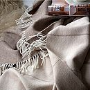 Camel Brown Stripes Throw Angela