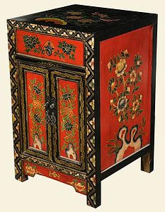 Chinese Vintage Style Cabinet - furniture