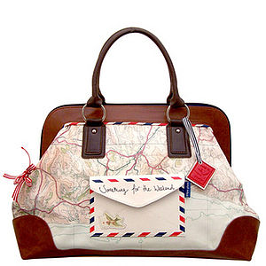 'Airmail' Style Overnight Bag - weekend bags
