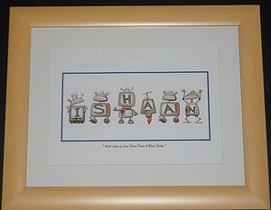 Boys Personalised Birth Print - canvas prints & art for children
