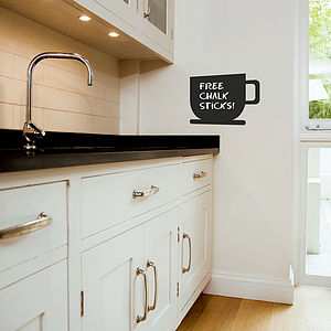 Coffee Cup Chalkboard Wall Sticker