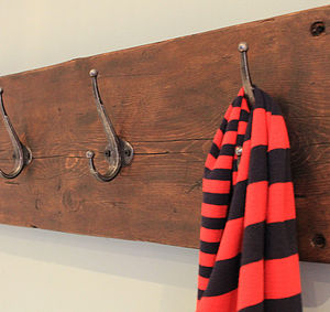 Reclaimed Wooden Coat Hook - hooks, pegs & clips
