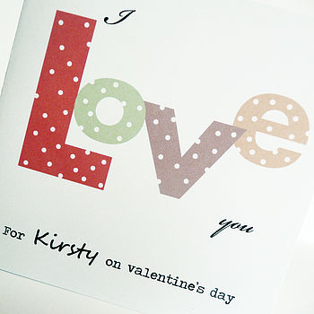 Love card personalised