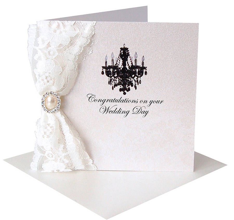 Paris Lace Congratulations Card By Made With Love Designs