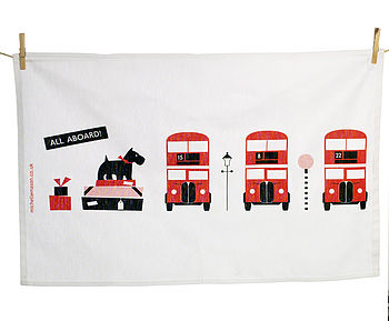All Aboard Tea Towel