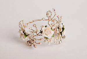 Flower Bracelet - wedding jewellery