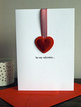 Be My Valentine Red Heart Greetings Card