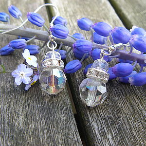 Sterling Silver And Crystal Earrings - earrings
