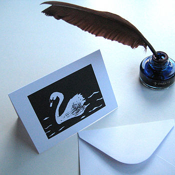 Swan Greeting Cards