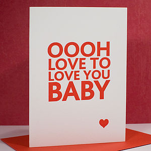 'Love to Love' Letterpress Valentines Card