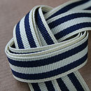 Navy and Cream Stripe