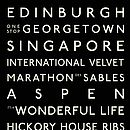 Personalised Edinburgh Destination Canvas - Black