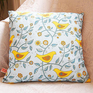 Folk Birds Cushion - cushions