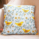 Folk Birds Cushion