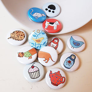 Set Of Two Badges - pins & brooches