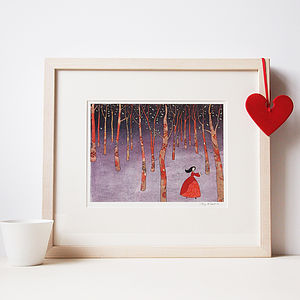 Lost In The Wood Fine Art Print - pictures & prints for children