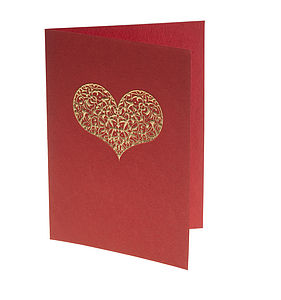 Embossed Heart Cards - anniversary cards